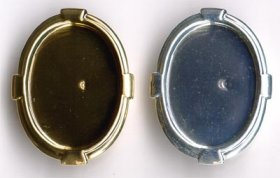 172BR 25x18 Recessed-edge BROOCH