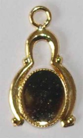 DL66G 10x8 Pendant Gold Plate