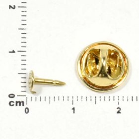 1T/A Tumbled Stone Flat Pad TIE TACK inc. CLUTCH BACK